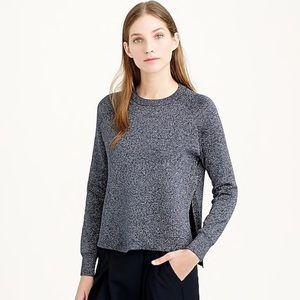 NWOT J Crew Tunic sweater black-charcoal